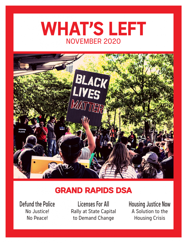 Cover of What's Left Issue #1 - November 2020